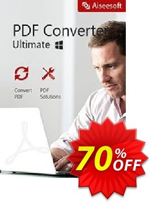 Aiseesoft PDF Converter Ultimate Coupon, discount Aiseesoft PDF Converter Ultimate special deals code 2020. Promotion: 40% Off for All Products of Aiseesoft
