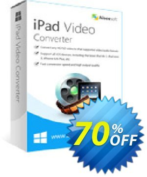Aiseesoft iPad Video Converter Coupon discount Aiseesoft iPad Video Converter wonderful promo code 2020 - 40% Off for All Products of Aiseesoft