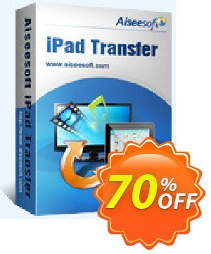 Aiseesoft iPad Transfer Coupon discount 40% Aiseesoft. Promotion: