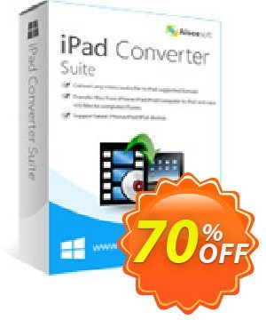 Aiseesoft iPad Converter Suite Coupon, discount 40% Aiseesoft. Promotion: 40% Off for All Products of Aiseesoft
