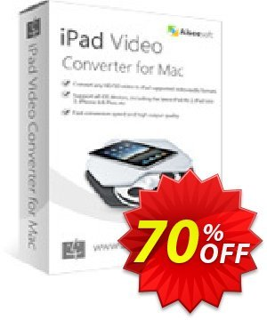 Aiseesoft iPad Video Converter for Mac Coupon discount 40% Aiseesoft. Promotion: 40% Off for All Products of Aiseesoft
