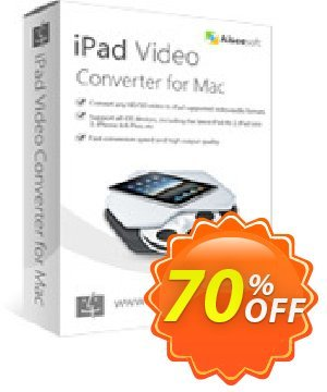 Aiseesoft iPad Video Converter for Mac discount coupon 40% Aiseesoft - 40% Off for All Products of Aiseesoft