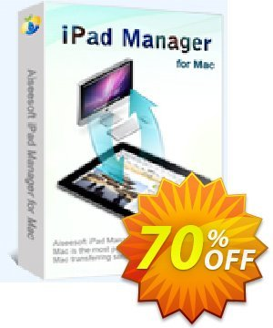 Aiseesoft iPad Manager for Mac Coupon discount 40% Aiseesoft. Promotion: