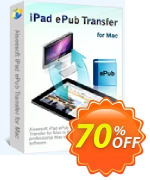 Aiseesoft iPad ePub Transfer for Mac Coupon, discount 40% Aiseesoft. Promotion: