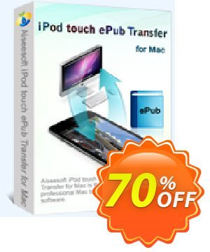 Aiseesoft iPod touch ePub Transfer for Mac Coupon, discount 40% Aiseesoft. Promotion: