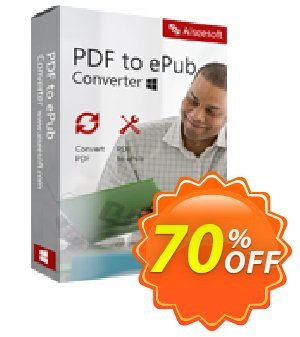 Aiseesoft PDF to ePub Converter Coupon discount 40% Aiseesoft - 40% Off for All Products of Aiseesoft