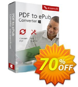 Aiseesoft PDF to ePub Converter Coupon, discount 40% Aiseesoft. Promotion: 40% Off for All Products of Aiseesoft