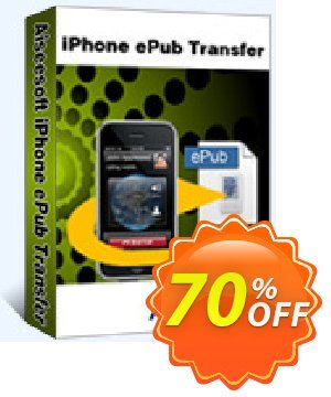 Aiseesoft iPhone ePub Transfer Coupon discount 40% Aiseesoft. Promotion: