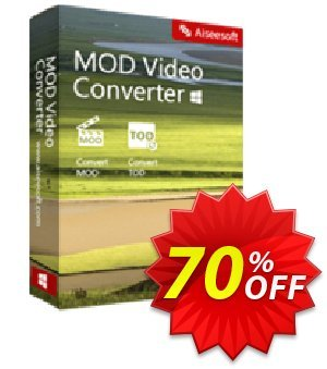 Aiseesoft Mod Video Converter 프로모션 코드 70% OFF Aiseesoft Mod Video Converter Feb 2020 프로모션: Fearsome deals code of Aiseesoft Mod Video Converter, tested in February 2020