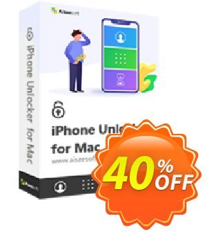 Aiseesoft iPhone Unlocker for Mac discount coupon Aiseesoft iPhone Unlocker for Mac - 1 Year/6 iOS Devices Special promo code 2020 - Special promo code of Aiseesoft iPhone Unlocker for Mac - 1 Year/6 iOS Devices 2020