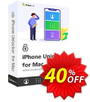 Aiseesoft iPhone Unlocker for Mac (Lifetime) 프로모션 코드 Aiseesoft iPhone Unlocker for Mac - Lifetime/6 iOS Devices Best discounts code 2020 프로모션: Best discounts code of Aiseesoft iPhone Unlocker for Mac - Lifetime/6 iOS Devices 2020