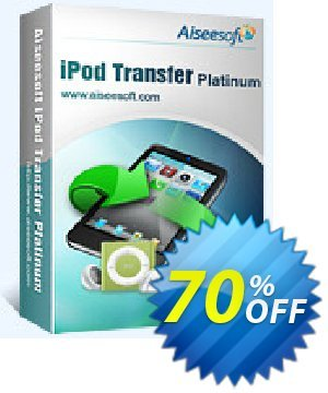Aiseesoft iPod Transfer Platinum Coupon discount 40% Aiseesoft. Promotion: