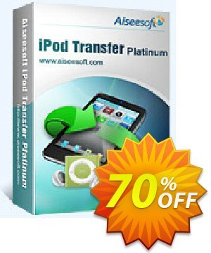 Aiseesoft iPod Transfer Platinum 優惠券,折扣碼 40% Aiseesoft,促銷代碼: