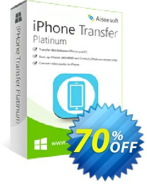 Aiseesoft iPhone Transfer Platinum Coupon discount 40% Aiseesoft -