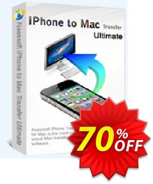 Aiseesoft iPhone to Mac Transfer Ultimate 優惠券,折扣碼 40% Aiseesoft,促銷代碼: