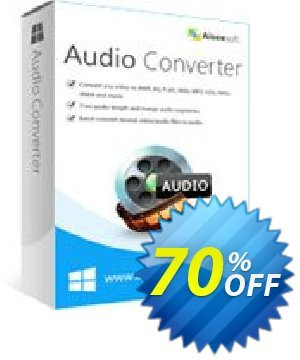 Aiseesoft Audio Converter Coupon, discount 40% Aiseesoft. Promotion: 40% Off for All Products of Aiseesoft