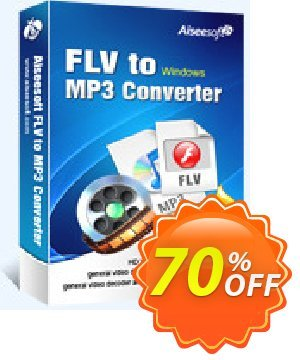 Aiseesoft FLV to MP3 Converter Coupon, discount Aiseesoft FLV to MP3 Converter fearsome sales code 2020. Promotion: fearsome sales code of Aiseesoft FLV to MP3 Converter 2020