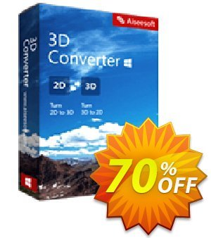 Aiseesoft 3D Converter Coupon, discount Aiseesoft 3D Converter stunning promotions code 2020. Promotion: 40% Off for All Products of Aiseesoft