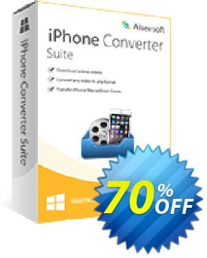 Aiseesoft iPhone Converter Suite 프로모션 코드 40% Aiseesoft 프로모션:
