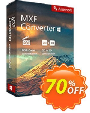 Aiseesoft MXF Converter Coupon, discount 40% Aiseesoft. Promotion: 40% Off for All Products of Aiseesoft