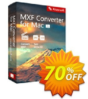 Aiseesoft MXF Converter for Mac Coupon, discount 40% Aiseesoft. Promotion: 40% Off for All Products of Aiseesoft