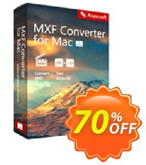 Aiseesoft MXF Converter for Mac 優惠券,折扣碼 50% Aiseesoft,促銷代碼: 50% Off for All Products of Aiseesoft