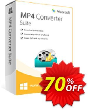 Aiseesoft MP4 Converter Suite Coupon discount 40% Aiseesoft. Promotion: