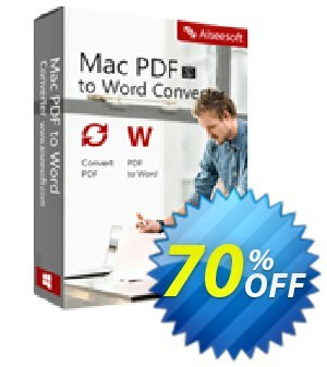 Aiseesoft Mac PDF to Word Converter 프로모션 코드 40% Aiseesoft 프로모션: 40% Off for All Products of Aiseesoft