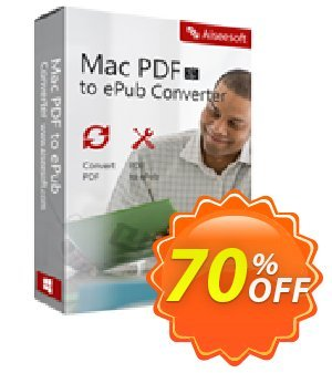 Aiseesoft Mac PDF to ePub Converter Coupon, discount 40% Aiseesoft. Promotion: 40% Off for All Products of Aiseesoft