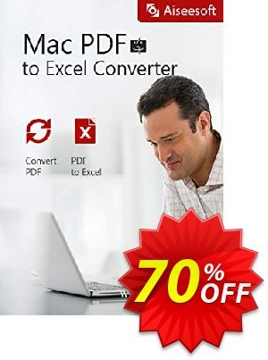 Aiseesoft Mac PDF to Excel Converter discount coupon 40% Aiseesoft - 40% Off for All Products of Aiseesoft