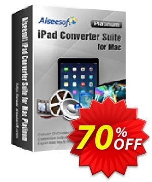 Aiseesoft iPad Converter Suite for Mac Platinum Coupon, discount Aiseesoft iPad Converter Suite for Mac Platinum hottest discount code 2019. Promotion: hottest discount code of Aiseesoft iPad Converter Suite for Mac Platinum 2019