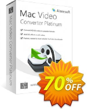 Aiseesoft Mac Video Converter Platinum Coupon, discount Aiseesoft Mac Video Converter Platinum stirring discount code 2020. Promotion: stirring discount code of Aiseesoft Mac Video Converter Platinum 2020