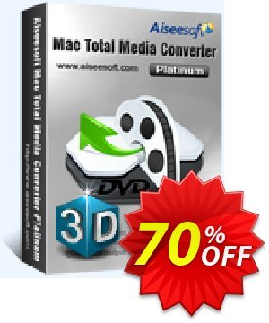 Aiseesoft Mac Total Media Converter Platinum Coupon, discount Aiseesoft Mac Total Media Converter Platinum formidable discounts code 2020. Promotion: formidable discounts code of Aiseesoft Mac Total Media Converter Platinum 2020