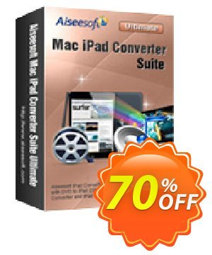 Aiseesoft Mac iPad Converter Suite Ultimate Coupon, discount Aiseesoft Mac iPad Converter Suite Ultimate stunning deals code 2020. Promotion: stunning deals code of Aiseesoft Mac iPad Converter Suite Ultimate 2020