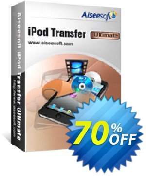 Aiseesoft iPod Transfer Ultimate 優惠券,折扣碼 40% Aiseesoft,促銷代碼: