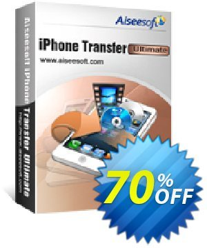 Aiseesoft iPhone Transfer Ultimate Coupon, discount 40% Aiseesoft. Promotion: