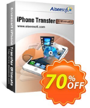 Aiseesoft iPhone Transfer Ultimate 프로모션 코드 40% Aiseesoft 프로모션: