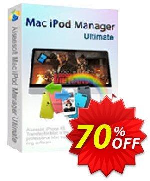 Aiseesoft Mac iPod Manager Ultimate 優惠券,折扣碼 40% Aiseesoft,促銷代碼: