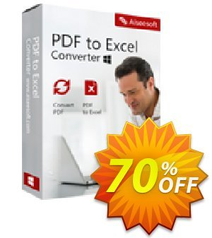 Aiseesoft PDF to Excel Converter Lifetime License 프로모션 코드 40% Aiseesoft 프로모션: 40% Off for All Products of Aiseesoft