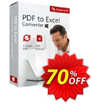 Aiseesoft PDF to Excel Converter Lifetime License discount coupon 40% Aiseesoft - 40% Off for All Products of Aiseesoft