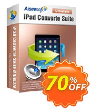 Aiseesoft iPad Converter Suite Ultimate Coupon, discount Aiseesoft iPad Converter Suite Ultimate big offer code 2019. Promotion: 40% Off for All Products of Aiseesoft