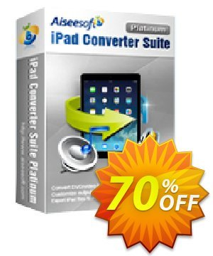 Aiseesoft iPad Converter Suite Platinum Coupon, discount Aiseesoft iPad Converter Suite Platinum best deals code 2020. Promotion: 40% Off for All Products of Aiseesoft