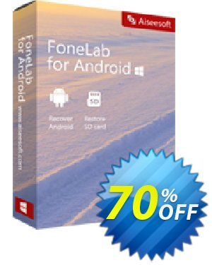 FoneLab Android Data Recovery 프로모션  50% Aiseesoft FoneLab for Android - Android Data Recovery