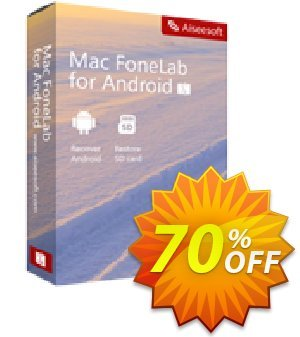 Mac FoneLab Android Data Recovery Coupon, discount 50% Aiseesoft. Promotion: