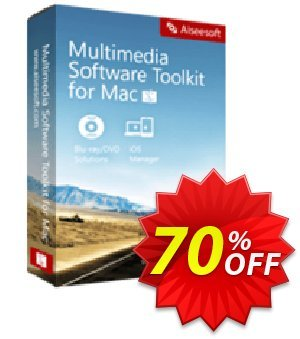 Aiseesoft Multimedia Software Toolkit for Mac Coupon, discount 40% Aiseesoft. Promotion: