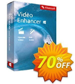 Aiseesoft Video Enhancer Coupon, discount 40% Aiseesoft. Promotion: