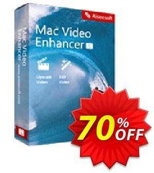 Aiseesoft Mac Video Enhancer Coupon discount 40% Aiseesoft. Promotion:
