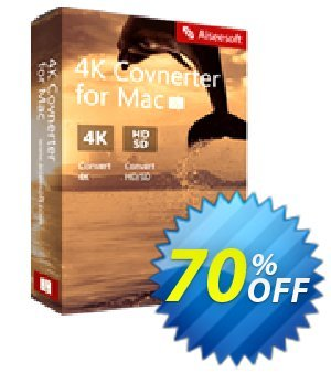 Aiseesoft 4K Converter for Mac Coupon, discount 40% Aiseesoft. Promotion: