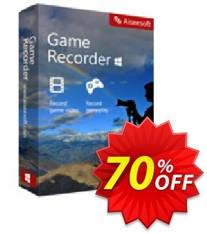 Aiseesoft Game Recorder Coupon discount 40% Aiseesoft. Promotion: