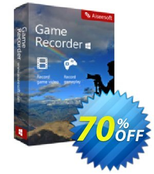 Game Recorder Coupon, discount 40% Aiseesoft. Promotion: